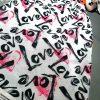 روسری نخی سفید مشکی طرح عشق love