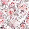 روسری مجلسی ابریشم تویل طرح گل یخ