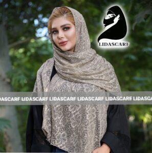 شال مجلسی تمام گیپور نگین دار مرواریدی مجلسی