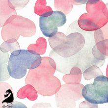 روسری مجلسی فانتزی ابریشم تویل طرح HEART قلب  SH-T28