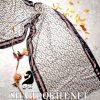 شال موهر پاییزه فندی FENDI سفید طوسی حاشیه دار